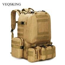 50L taktik sırt çantası, erkek askeri sırt çantası, 4 in 1Molle spor taktik çanta, açık yürüyüş tırmanma ordu sırt çantası kamp çantaları