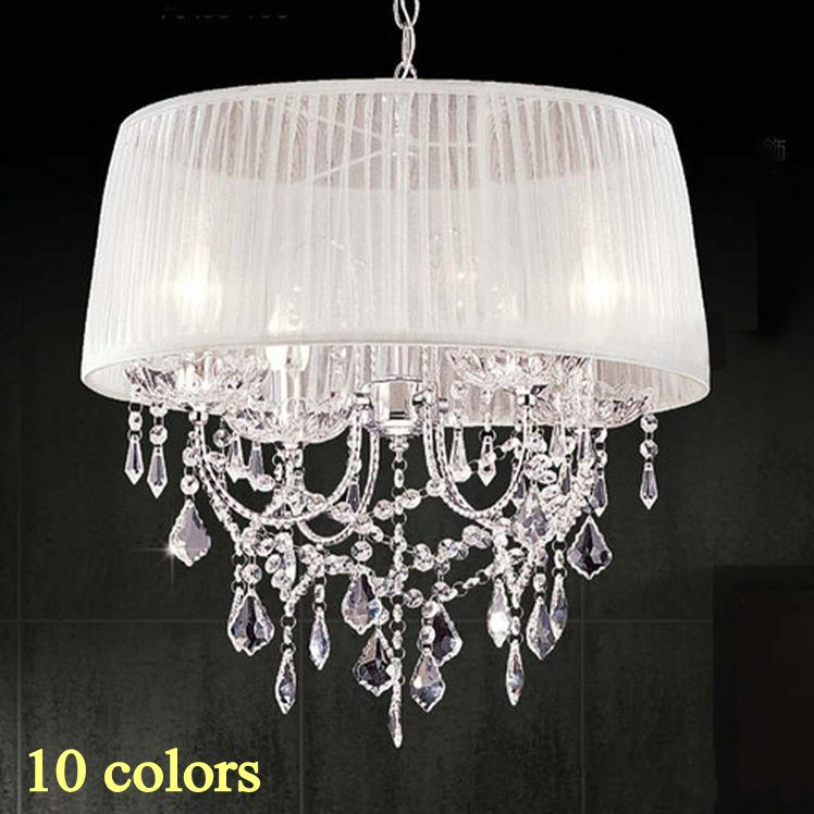 14 color lampshade chandelier fabric lampshade  modern crystal  - Indoor Lighting - Photo 1