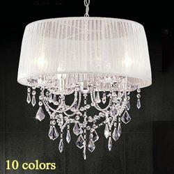14 kolor abażur żyrandol tkanina abażur nowoczesna kryształowa żyrandole