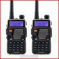 HOT 2 Pcs 5 W 128ch Rádio em Dois Sentidos Walkie Talkie Baofeng Uv-5re para a Caça Dual Display VOX FM Estação de Rádio Vhf Uhf Rádio Cb