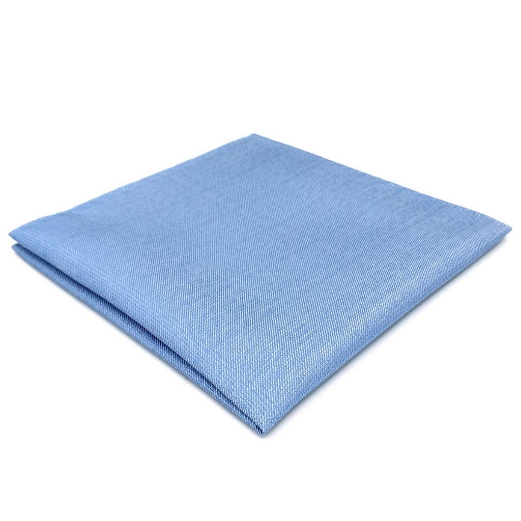 DH34 Light Blue Solid Mens Pocket Square Wedding Brand New Classic Handkerchief Fashion
