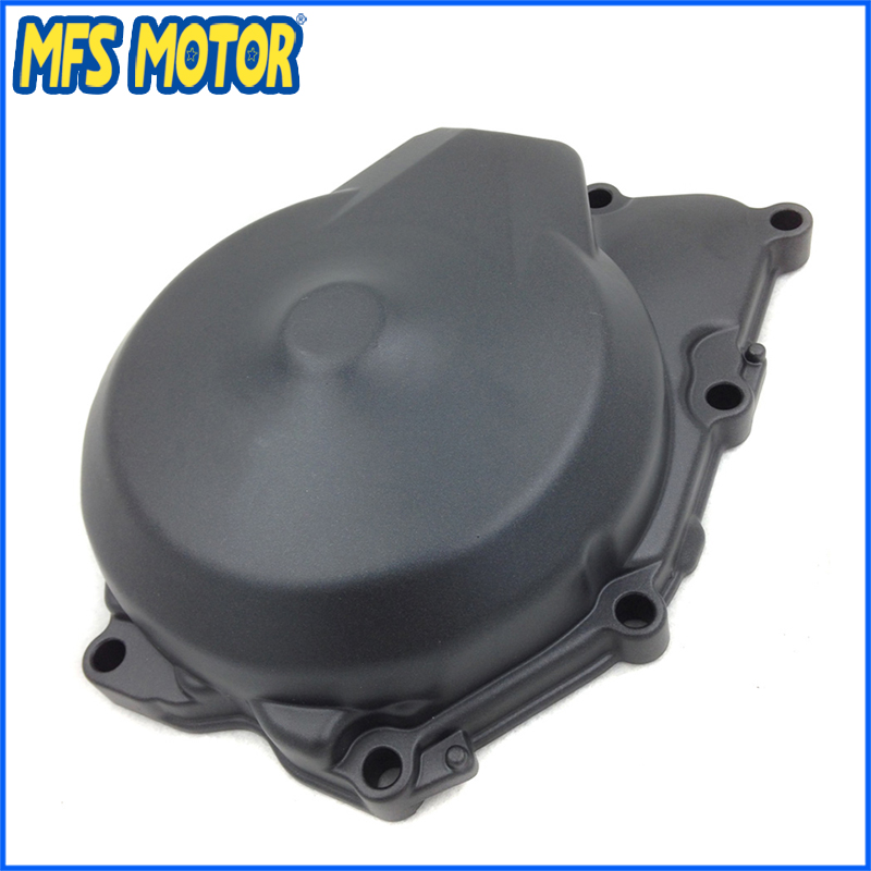 Freeshipping Motorcycle Left Engine Stator cover For Yamaha YZF R6 2006 2007 2008 2009 2010 2011 BLACK for yamaha yzfr6 yzf r6 2006 2007 2008 2009 2010 2011 2012 2013 2014 motorcycle engine stator cover chrome left side