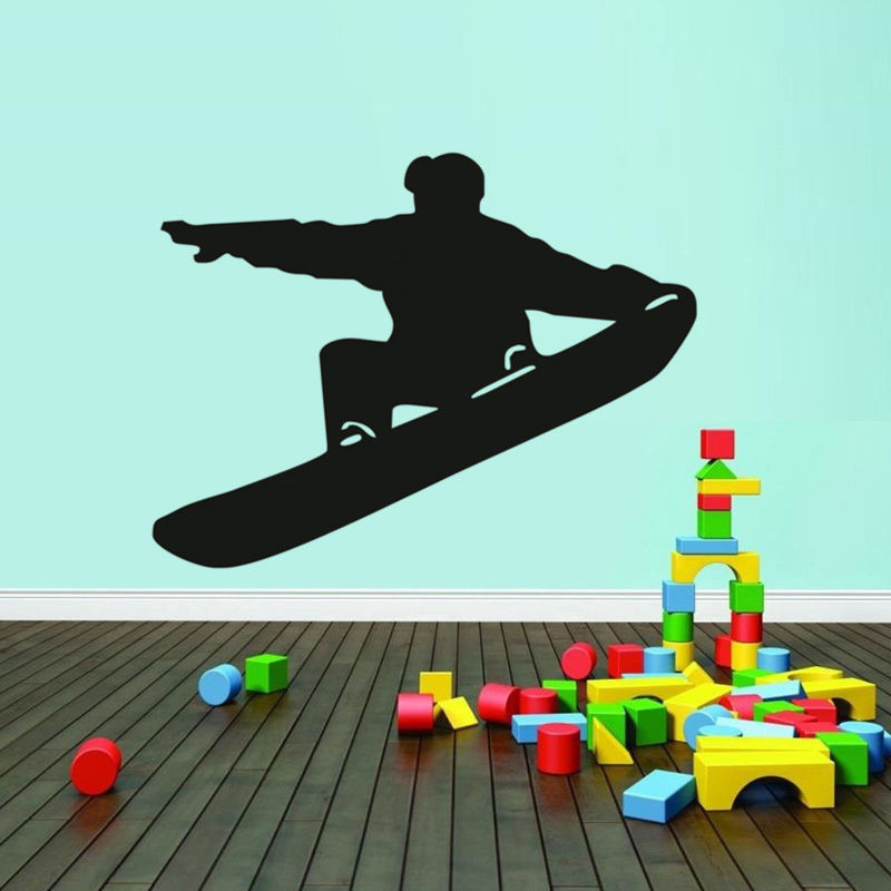Health Fitness Sports Wall Stickers Skate Man Wild Sport Home Removable Viny For Boys Kids Room wall GYM Decorative DecalSA052