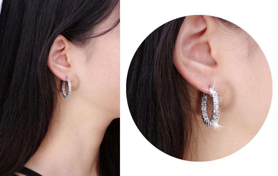 Effie Queen Big Round Hoop Female Earring Eternity Style with Shiny Zircon Bar Setting Luxury Earrings for Women Wholesale DE144 15