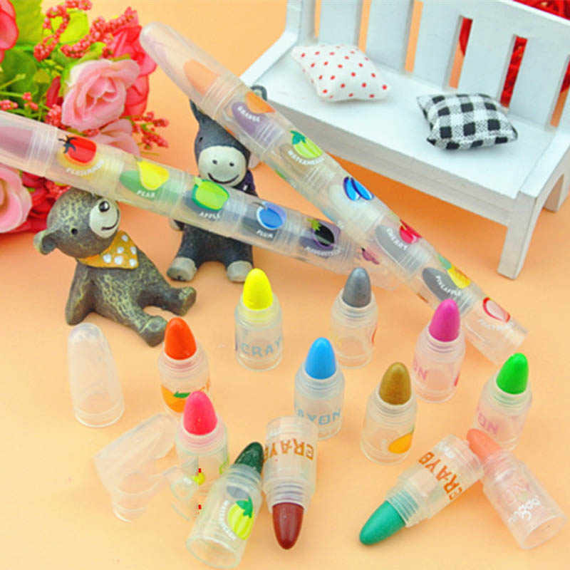 1 Pcs 6 צבעים מצחיק ילדים ילדי ציור עפרונות מסיבת יום הולדת ושוד תיק חומרי מילוי ציור עט סט מפלגה מתנות