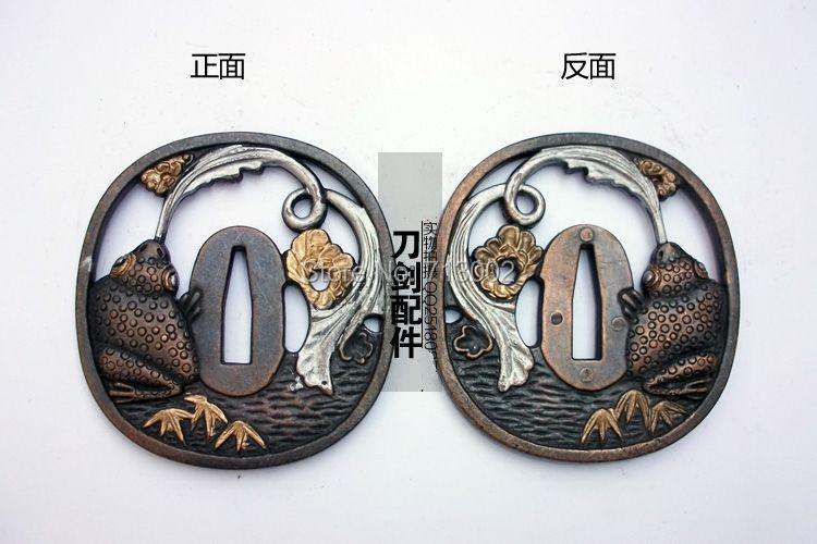 Фитинг Tsuba для японский меч катана аксессуар кирзит Guard-Tsuba лягушка