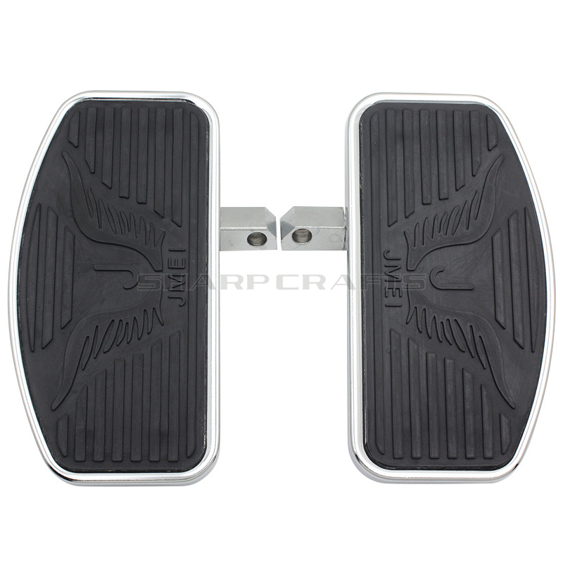 24MM Motorcycle Driver Front Rider Foot Pegs Floorboards Footboards For KAWASAKI Vulcan VN 800 400 Classic Custom Eagle Pattern