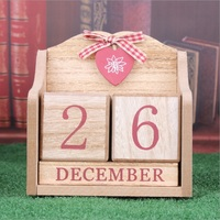 European Style Pastoral Wood Creative Calendar Photography Props Home Decoration Calendar Christmas Crafts Ornament