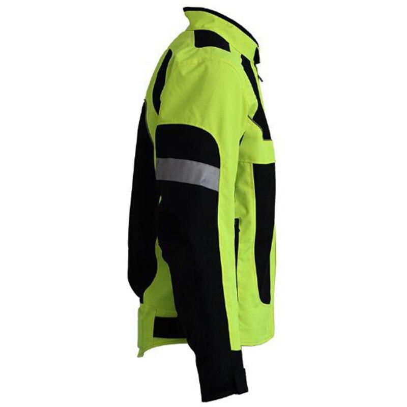 Men Motorcycle Reflective Jacket Mesh Breathable Mesh Coat Gear Racking Clothing