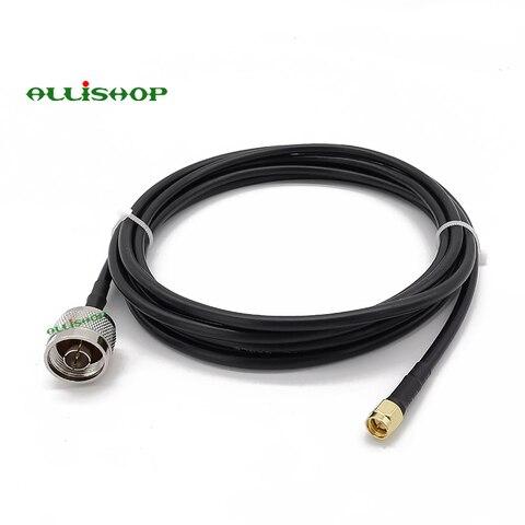 tipo n macho para sma macho antena de teste coaxial cabo rg58 conectar sma plug