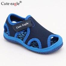 Cute eagle 2019 Brand Summer Fashion Children Shoes Toddler Girls Sandals Kids Boys Sandals Non-slip Baotou Children Beach Shoes