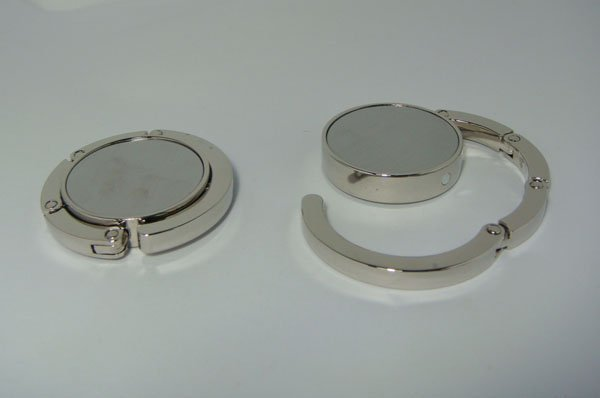 10pcs  BLANK Folding Purse Hook DIY  Handbag Hanger Holder  free shipping