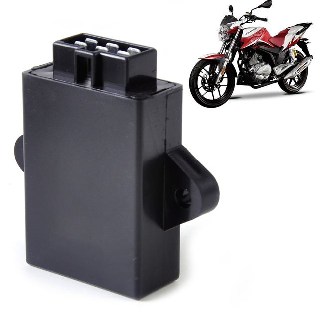 Motorcycle Black Plastic & Metal 6Pin 12V DC Digital Ignition Control Module CDI Box Unit fit for Suzuki GN250 Chopper