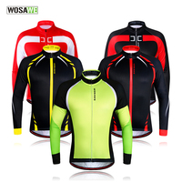 WOSAWE Men Winter Thermal Fleece MTB Bike Bicycle Cycling Jersey Outdoor Sport Running Jacket Coat Cycling Clothing