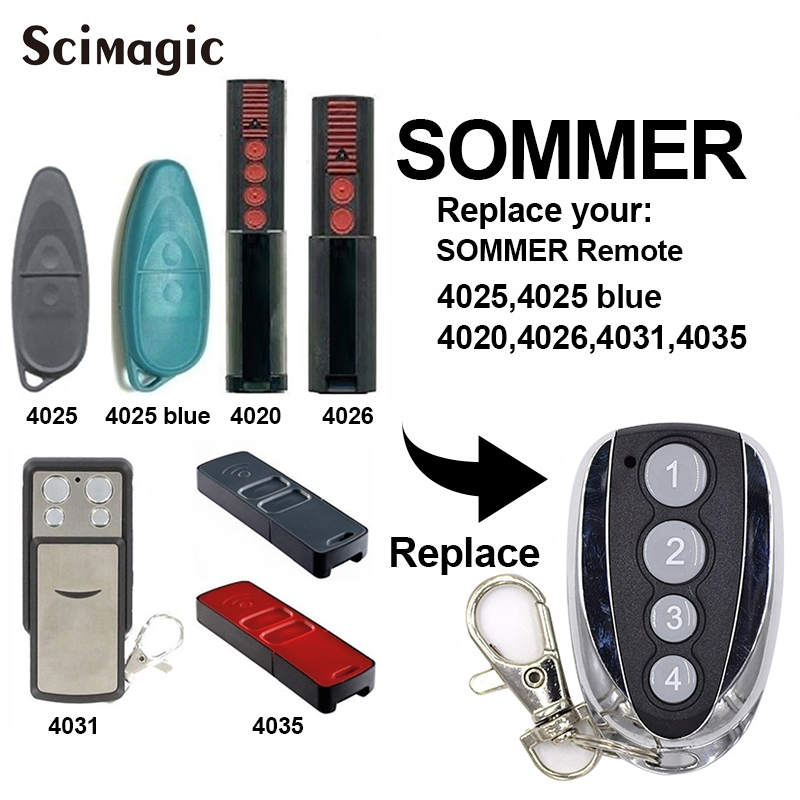 4 Channel Sommer 4020V000 Remote Control Rolling Code Frequency 868,8 Mhz