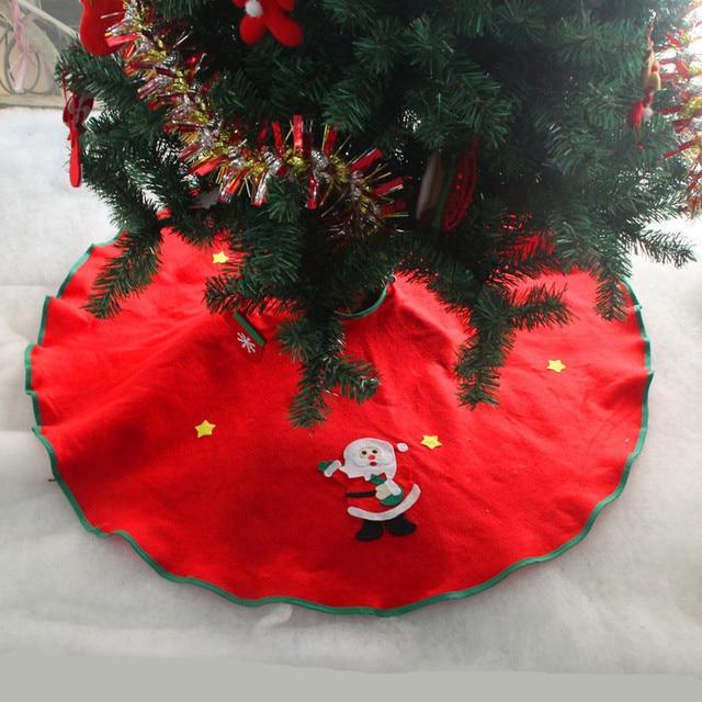 hot 90cm 1pc snowman christmas tree skirt decoration ornaments xmas tree apron santa claus gift happy
