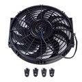 12 polegada Preto 12 V 80 W Elétrica Universal Auto De Refrigeração Do Radiador sistemas de Kit De Montagem Cooler Fan Hot Rad chupar vento Auto modificado