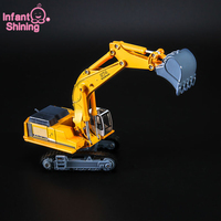 Juguetes Kids Digging Excavator Truck Toy Granville Alloy Engineering Vehicle Static Simulation Model Children Birthday For Boy