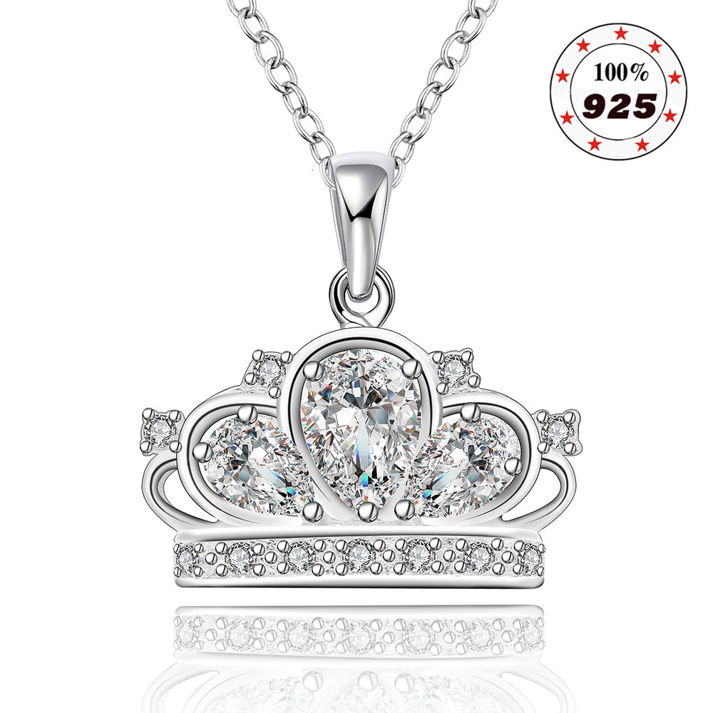 Cheap Cheap Silver Crown Necklace Crown Necklace Tiffany
