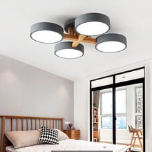 Nordic living room lamp dining room lamp modern minimalist wooden lighting led chandelier bedroom lamp wooden ceiling lamp multiple chandelier ceiling living room lighting living room lamps modern minimalist led blossom lamp mediterranean lamp zx180