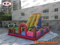Kids Loved Amusement Park Games Equipment Customized PVC Tarpaulin Inflatable Fun City