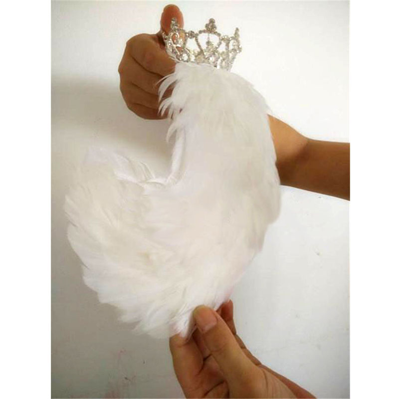Free Shipping White Black Swan Lake Ballet Headpiece Feather Headwear Headdress with Crown Hand Made Nutcracker