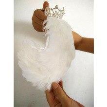 Free Shipping White Black Swan Lake Ballet Headpiece,Feather Headwear Headdress with Crown,Hand Made Nutcracker Hair Headband