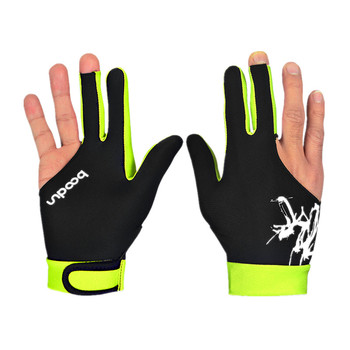 1 Pcs Billiard Gloves Three Fingered Pool Snooker Glove for Men Women Fits Left and Right Hand Pool Table Billiard Accessories