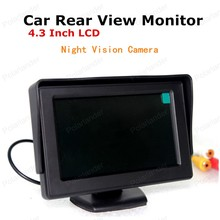 hot!! 2-channel video input 4.3 Inch Car Rear View Monitor TFT-LCD + 7 IR LED Backup Night Vision Camera