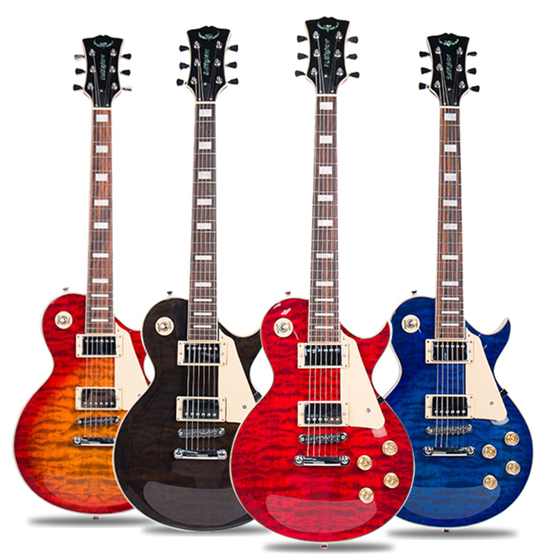 Bullfighter DLP-100 professionnel Rock guitare électrique voyage guitare électrique ensemble avec bois de rose