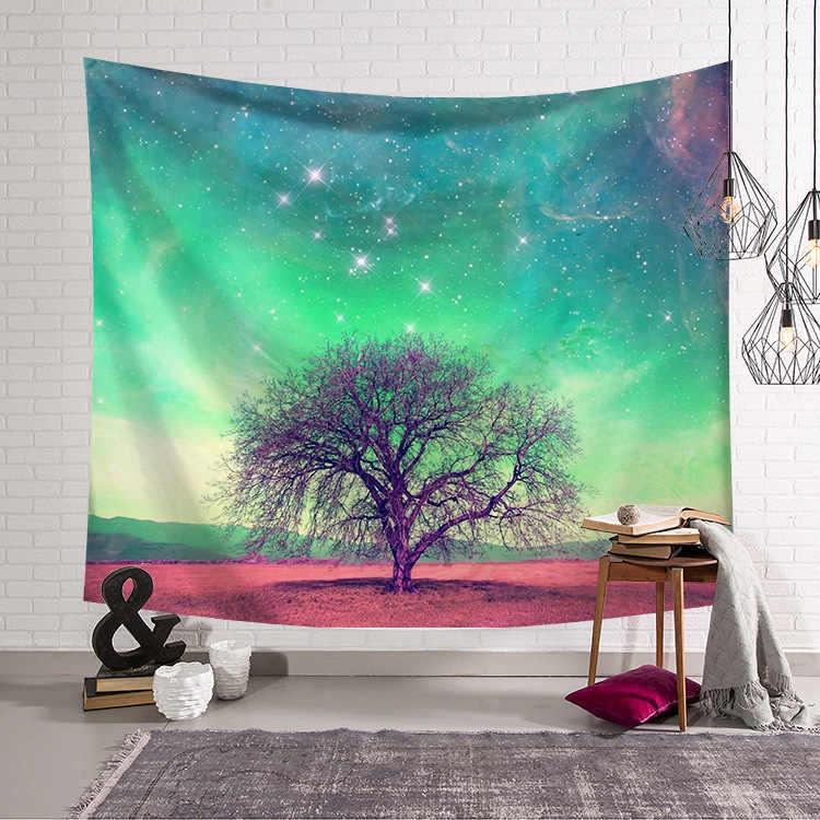 Księżyc mata do jogi koc gobelin ścienny wystrój pokoju karimata duża ściana wiszące gobelin 150x200cm Mandala Galaxy gobelin