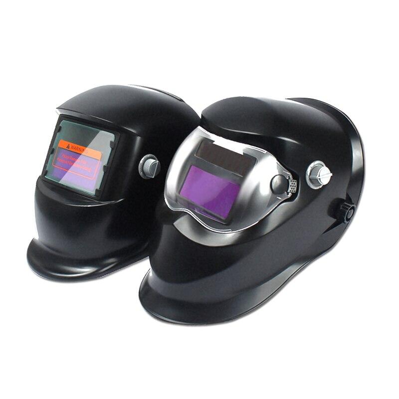 Solar Power Welding Helmets Mask Welder Cap Welding Lens Automatic Darkening TIG MIG MMA Welding Field with 5pcs Lens