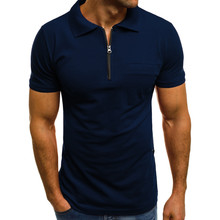 New Arrival Fashion Personality Men Casual Slim Short Sleeve Pockets T