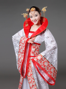 Image 3 - Luksusowy kostium dynastii Tang drag tail konkubina wróżka damska kostium sceniczny panna młoda chińskie wesele motyw studyjny taniec sukienka