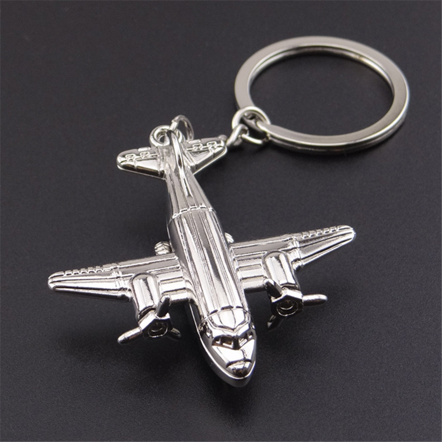 New Fashion Plane Model Shaped Key Chain Gift Originality Metal KeyChains Men Hey Holder Women Key Ring Gift Jewelry