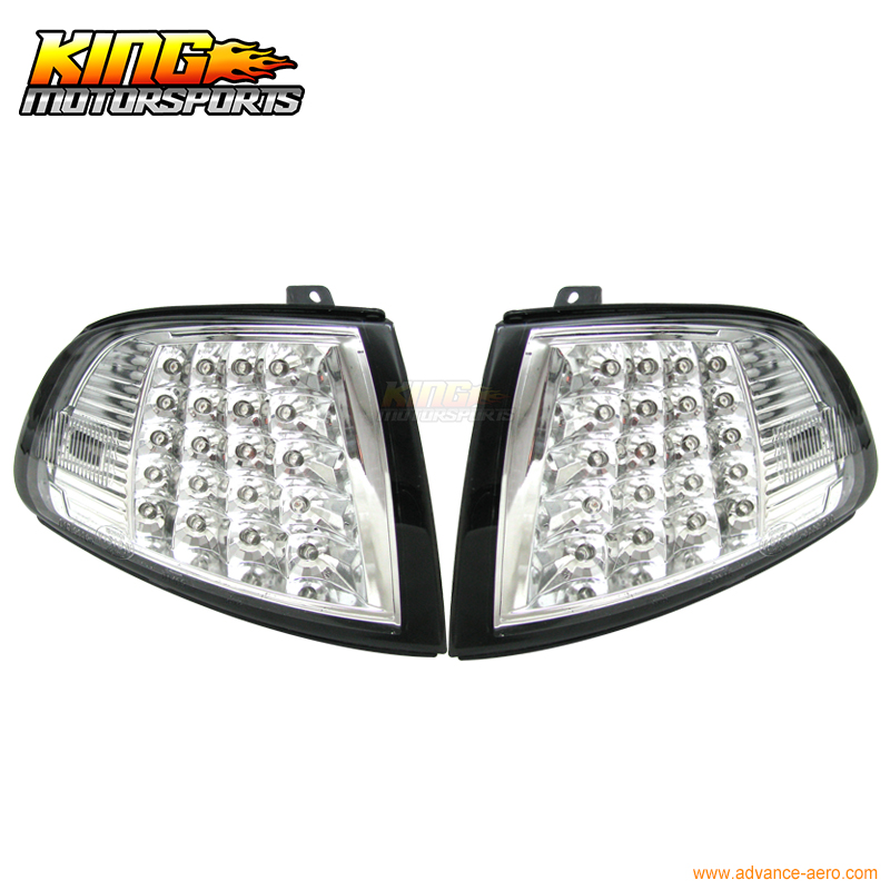 Fits for 1992-1995 Honda Civic 2//3 Door EG JDM Vision Dark Amber Turn Signal Corner Lamp Lights