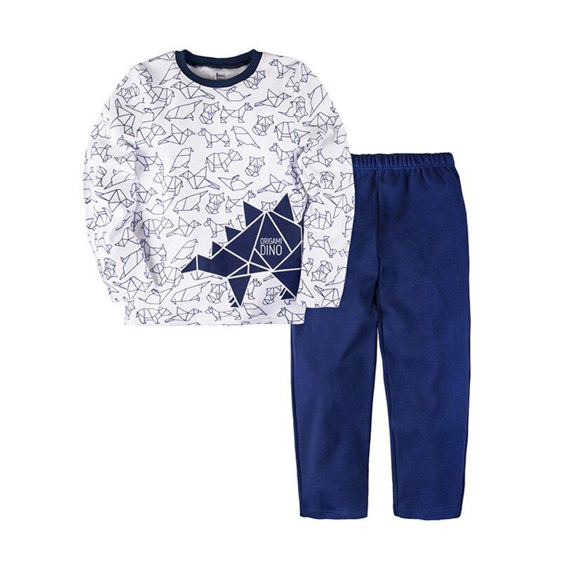 Pajama set shirt+pants for boys BOSSA NOVA 362o-371 letter print cami and ruffle shorts pajama set