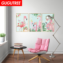 Decorate flamingo bird leaf art wall sticker decoration Decals mural painting Removable Decor Wallpaper LF-1746