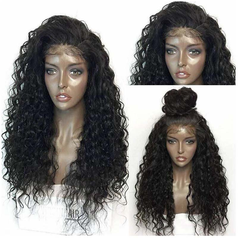 LUFFYHAIR Peruvian Kinky Curly Lace Front Wigs With Baby Hair Natural Hairline Pre Plucked Remy Hair Lace Front Wigs