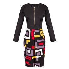 2016 neue mode Bodycon Büroarbeit Kleid frauen Vestidos Sexy Frauen Kleid Digitaldruck Bodycon Bleistift Kleider