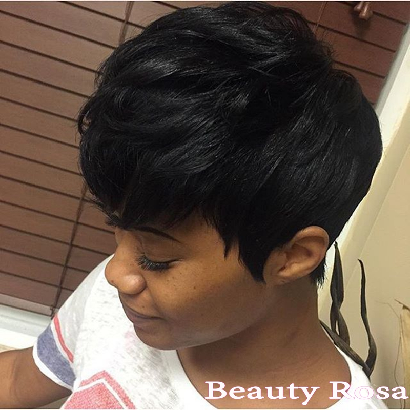 Elegance beauty short hairstyle virgin human 28 pieces