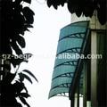 YP100480 100x480 cm 39x189in profunda 1000mm, ampla 4800mm. porta de policarbonato dossel, toldo para a frente porta