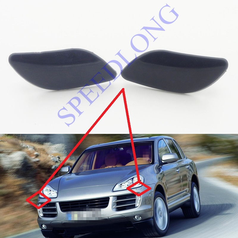 ⊱2 Pcs/Pair Front Headlight Washer Nozzle Jet Covers for Porsche ...