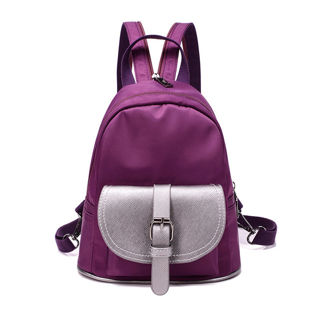 New Fashion Woman Backpack Hot Sale Canvas School Bag Solid Lightweight School  Backpacks Fashion Women s Bags 7398a7e67