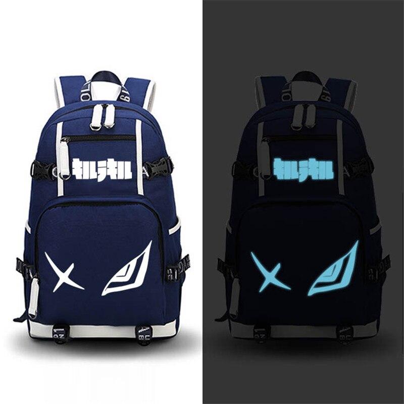 KILL la KILL Matoi Ryuuko Luminous Printing Backpack Canvas School Bags Mochila Feminina Anime Women Backpack Laptop Bagpack new anime kill la kill matoi ryuuko backpack shoulder student bags free shiping