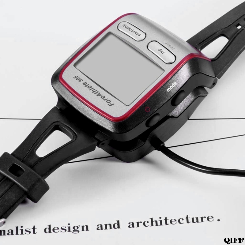 Drop Ship&Wholesale USB Charger Cradle Dock Cable for Garmin Forerunner 205 /<font><b>305</b></font> <font><b>GPS</b></font> Smart Watch 1M APR29 image