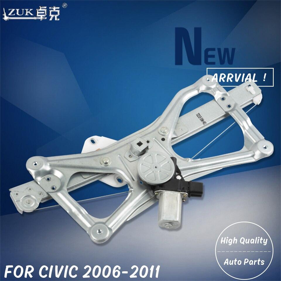 For Honda 2007-2008 Front Driver Left Window Regulator /& Lift Motor Assembly