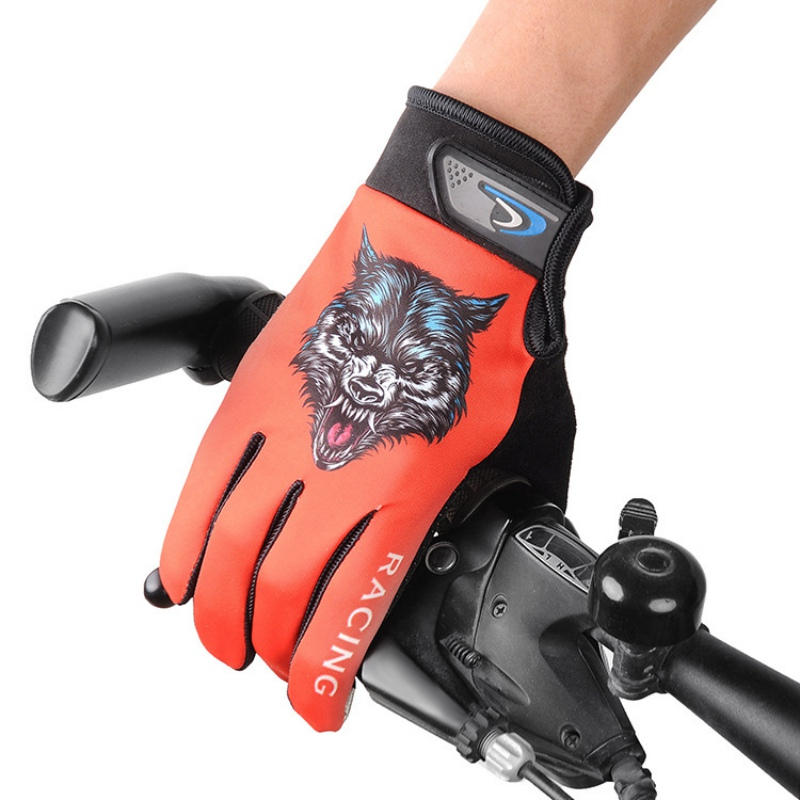 Motorcycle Gloves Man Touch Screen Protective Gloves Outdoor Gloves Creative Wolf Gloves