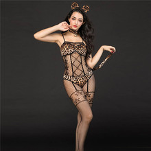 Women Sexy Bodysuit Lingerie Sexy Hot Erotic Cat Uniform Cosplay Sexy Porno Costume Lingerie Bodystocking Fishnet Bodysuit Teddy 2018 new sexy lingerie hot black lace perspective women teddy lingerie cosplay cat uniform sexy erotic lingerie sexy costumes