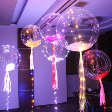 Night market stalls hot style transparent bobo ball 3 meters led twinkle light emitting wave line lamp lights balloons